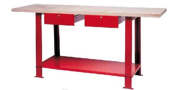 Arredamento per officina banco da lavoro piano in legno for Arredamento lavoro